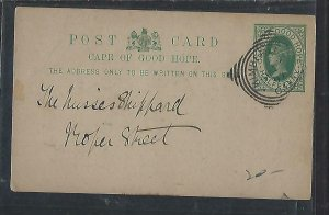 CAPE OF GOOD HOPE POSTAL STATIONERY (P0311B) 1897 QV 1/2D KIMBERLEY