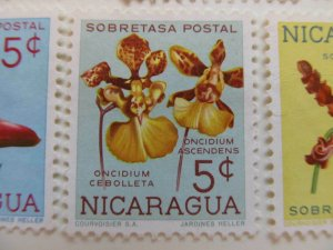Nicaragua 1962 Orchids 5c fine mng postal tax stamp A11P11F97