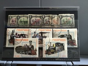 Portuguese Colonies Camels and Trains mounted mint and used   stamps R25264