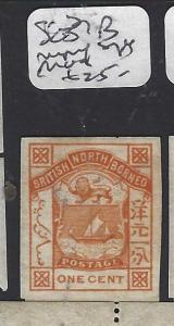 NORTH BORNEO  (P2811B)  LION, ARMS  1C   POSTAGE SG 24B IMPERF SINGLE MOG