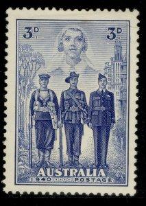 AUSTRALIA GVI SG198, 3d blue, M MINT. Cat £18.