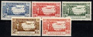 Dahomey #C1-5 MNH CV $4.00 (X9623)
