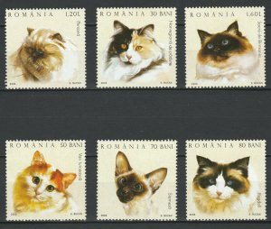 Romania 2006 Animals, Pets, Cats, 6 MNH stamps