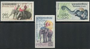 Laos Group of 30 stamps - Scott 41-43, 48-65, 70-73, 77-80, 88 Mint and Unused