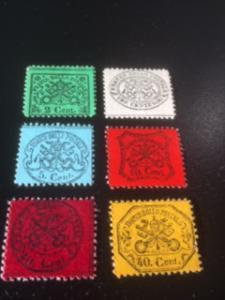 Roman States sc 19-24 MH reprints glazed paper