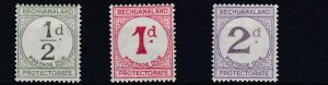 BECHUANALAND  1932 - 58    1/2D  - 2D     POSTAGE DUES   MH