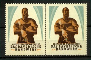 Germany 1927 Bavarian Craft Exhibition Labels