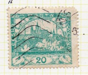 Czechoslovakia 1919 Early Issue Fine Used 20h. 100989