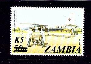 Zambia 319 MNH 1985 Surcharge