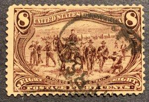 #289 – 1898 8c Trans-Mississippi Exposition.  Used Average.