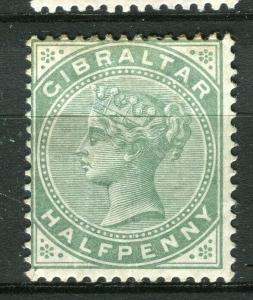GIBRALTAR; 1898 early classic QV issue fine Mint hinged Shade of 1/2d. value