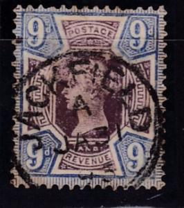Great Britain 1887 9d lilac & blue  Queen QV Jubilee  VF/Used/(o)