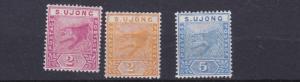 SUNGEI  UJONG 1891  S G 50 - 52 SET OF 3 MH