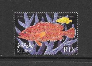 FISH - MALDIVES #2386  CORALHIND   MNH