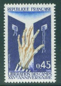 FRANCE Scott 1282 MNH** 1970 concentration camp stamp
