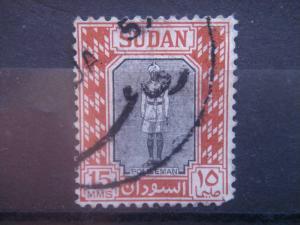 SUDAN, 1951, used 15m, Sudan policeman Scott 104