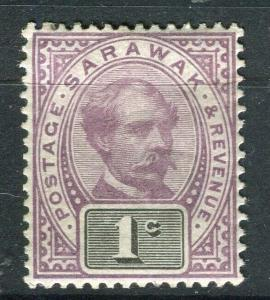 SARAWAK; 1888 early C. Brooke issue fine Mint hinged 1c. value