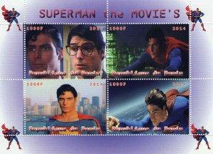 Benin 2014 Superman The Movie's Cartoons 4v Mint Souvenir Sheet S/S. (#2)