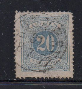 Sweden Sc J6 1874 20 ore postage due stamp used