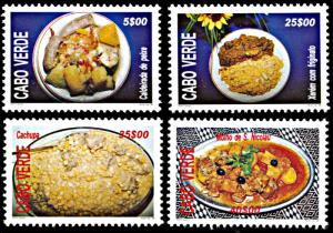 Cape Verde 726-729, MNH, Traditional Cuisine of Cabo Verde