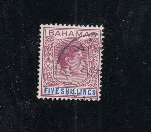 BAHAMAS # SG 156e VF-KGV1 5sh FROM THE HILLSON COLLECTION CAT VALUE £19 or  $24