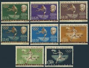Paraguay 736-743,MNH.Michel 1160-1167. Olympics Paris-1924.Pierre de Coubertin,