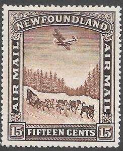 Newfoundland Airmail Stamp Scott Number C6 VF H