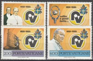 Vatican City #681-4 MNH F-VF (V4282)