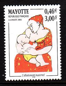 Mayotte MNH Scott #146 3fr Mother breastfeeding child