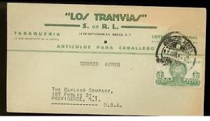 1944 Mexico uncensored  Commercial cover Los Tranvias
