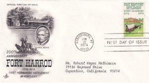 1974, Bicentennial Fort Harrod, Art Craft, FDC (E12281)
