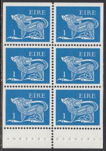 Ireland 291a MNH - Definitive booklet pane