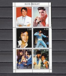 Tadjikistan, 1999 Russian Local. Elvis Presley sheet of 6.