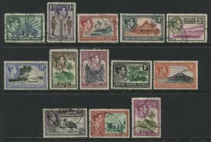 British Solomon Islands KGVI 1939-42 complete set used