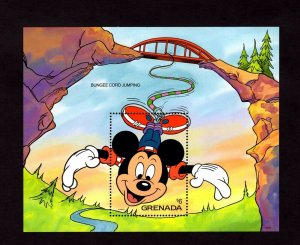 GRENADA - 1992 - DISNEY - MICKEY - BUNGEE JUMPING - THRILL SPORTS - MNH S/SHEET!