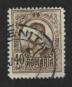 Romania Scott  212 Used 40b King Carol I  stamp 2017 CV $2.25