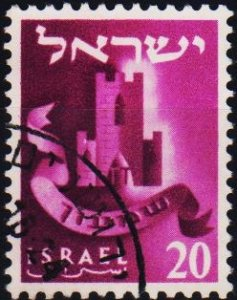 Israel. 1955 20pr S.G.116A Fine Used