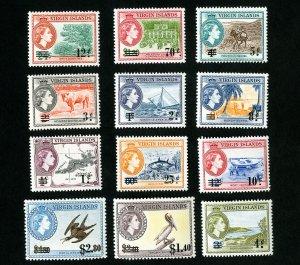 Virgin Islands Stamps # 128-39 XF OG NH