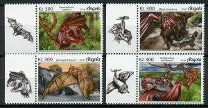 Angola Stamps 2018 MNH Bats Bat Flying Mammals Wild Animals Fauna 4v Set