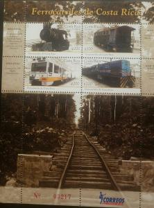 O) 2010 COSTA RICA, RAILWAYS -TRAIN DIESEL - AEG - APOLO. -FERREA LINE. MNH