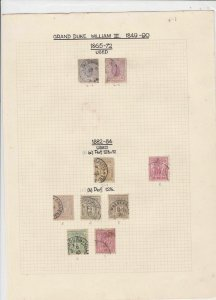 luxembourg grand duke william lll 1849-90 stamps sheet ref 17821