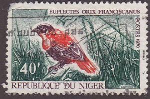 Niger 237 Hinged Used 1970 Red Bishop Bird