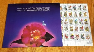 1981 Stamp Sheet Scott # 1953-2002 'State Birds and Flowers' In Original Sleeve