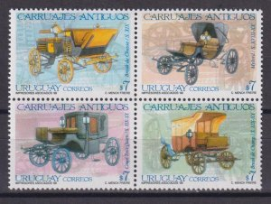 Uruguay 1999 Carriages  (MNH)  - Cars, Carriages