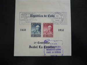 Stamps  - Cuba - Scott# C50b - Used Souvenir Sheet of 2 Stamps - First Day Cover