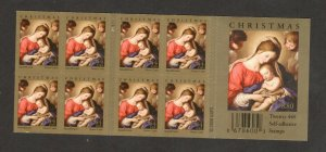 4424 Madonna & Child Double Sided Booklet Of 20 Mint/nh FREE SHIPPING