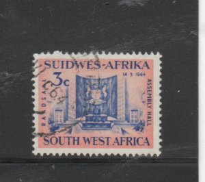SOUTH WEST AFRICA #297  1964  ASSEMBLY HALL    F-VF USED