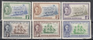 British Honduras, Sc 115,117-121, MLH, 1948, King