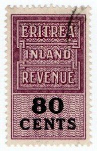 (I.B) BOIC (Eritrea) Revenue : Duty Stamp 80c