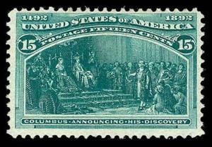 U.S. COLUMBIAN ISSUE 238  Mint (ID # 83043)